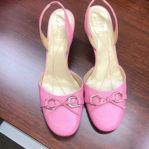 Kate Spade Leather Slingback Sandals in Pink